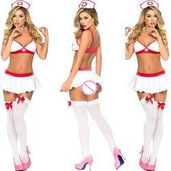 Neue Porn Frauen Babydoll Unterwäsche Nachthemden Dessous Sexy Hot Erotic Sexy Uniform Krankenschwester Cosplay Sexy Kostüme Halloween Rolle Spielen
