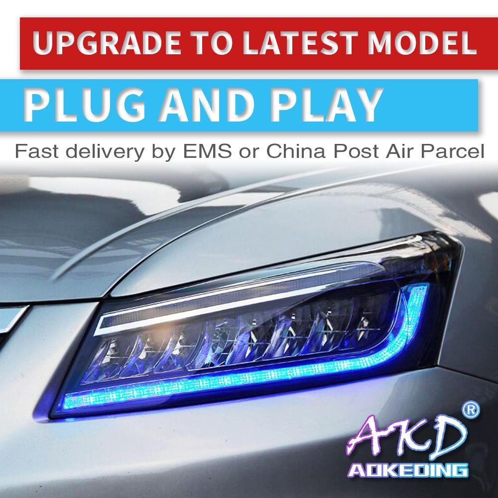 AKD tuning autos Scheinwerfer Für Honda Accord G8 2008-2013 Scheinwerfer Voll FÜHRTE DRL Lauf lichter Bi-Xenon strahl dynamische signal