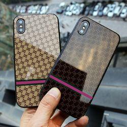 Oloey Verre De Luxe Cas Pour l'iphone 7 beaucoup type Dur Retour Couverture Souple En Silicone Pare-chocs coque Pour iPhone x 6 s 8 7 Plus 6 Plus Cas