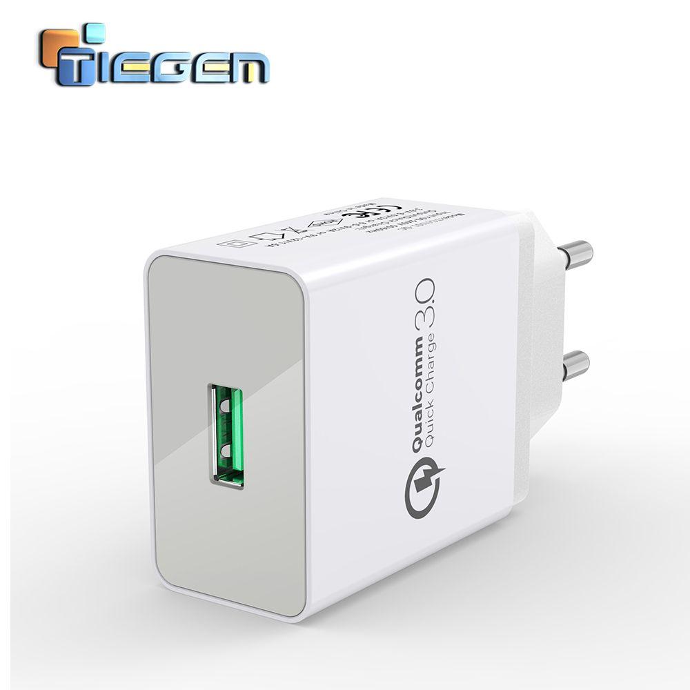 TIEGEM 18 W rapide Charge rapide 3.0 universel USB chargeur mural adaptateur voyage EU US prise chargeur de téléphone portable pour iphone 7 samsung