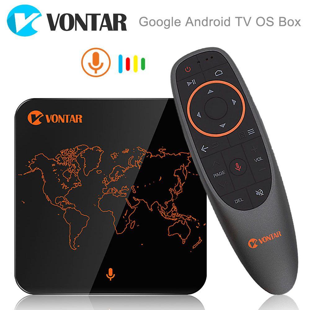 2018 VONTAR V1 Google Voice Control Smart TV BOX Android 7.1 Amlogic S905W 2GB 16GB Streaming Google Play Netflix PK X96 mini