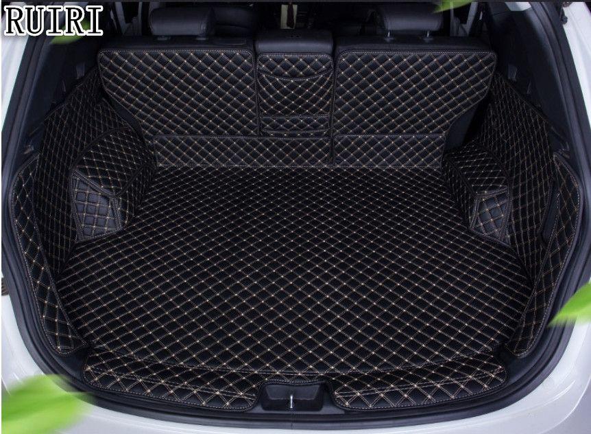 Free shipping! Special trunk mats for Hyundai Santa fe 5 seats 2018-2013 durable boot carpets cargo liner mats for Santafe 2016