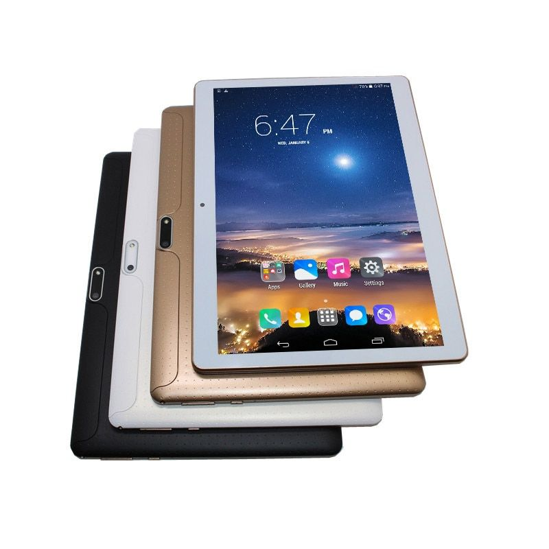 10.1 3G tablet pc MTK6582 Android 4.4 Phablet IPS 1280x800 Quad Core 1G+16G Dual SIM Card WIFI Bluetooth GPS Gift Screen Film