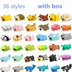DROPSHIPPING Doll Animal Cable Protector for Iphone Cable Dog Bite Rabbit Cat panda fish Doll model Toys  Animal model funny