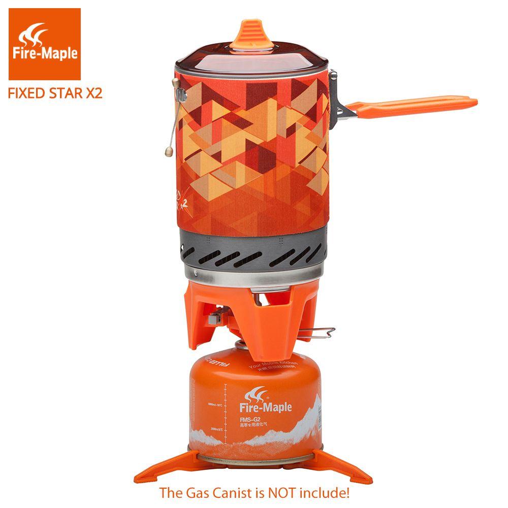 Feuer Maple Fest Star 2 Persönliche Kochen Im Freien Wandern Camping Ausrüstung Ofen Tragbare Propan Gasherd Brenner FMS-X2
