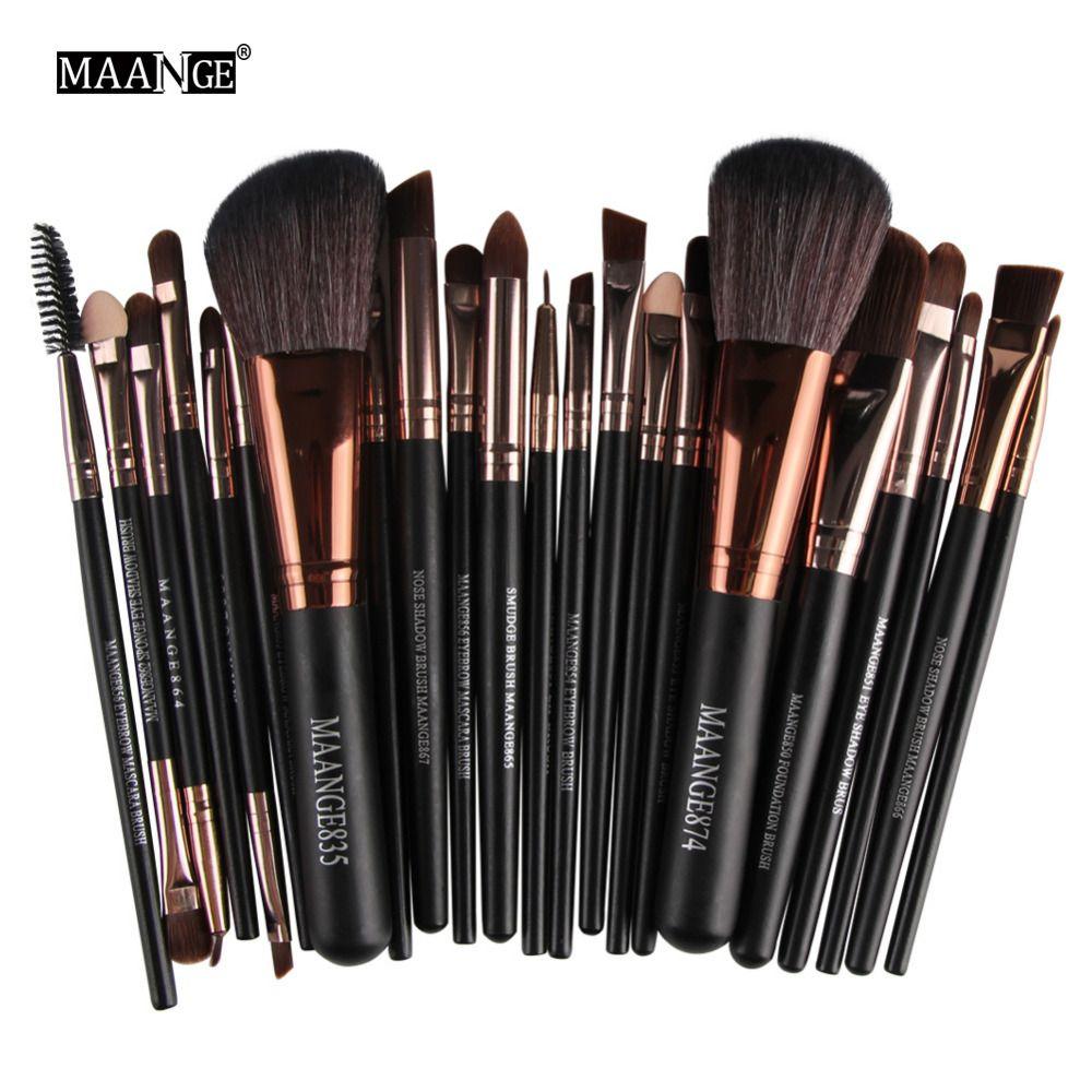 Ensemble d'outils de pinceaux de maquillage MAANGE Pro 22 pièces poudre cosmétique fond de teint ombre à paupières Blush maquillage pinceau ensemble de pinceaux de maquillage Maquiagem
