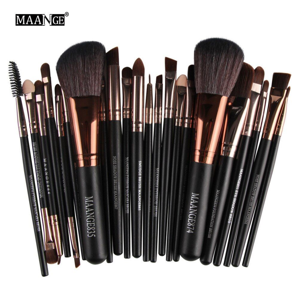 MAANGE Pro 22 pcs Maquillage Brosses Tool Set Cosmétique Poudre Ombre À Paupières Fondation Blush Make Up Brush Maquiagem maquillage brosse ensemble