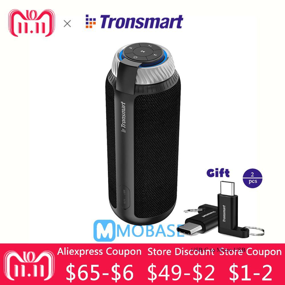 Tronsmart T6 Portable wireless Bluetooth Speaker Mini Speakers Gift Column subwoofer Soundbar Audio Receiver AUX big power vsM&J