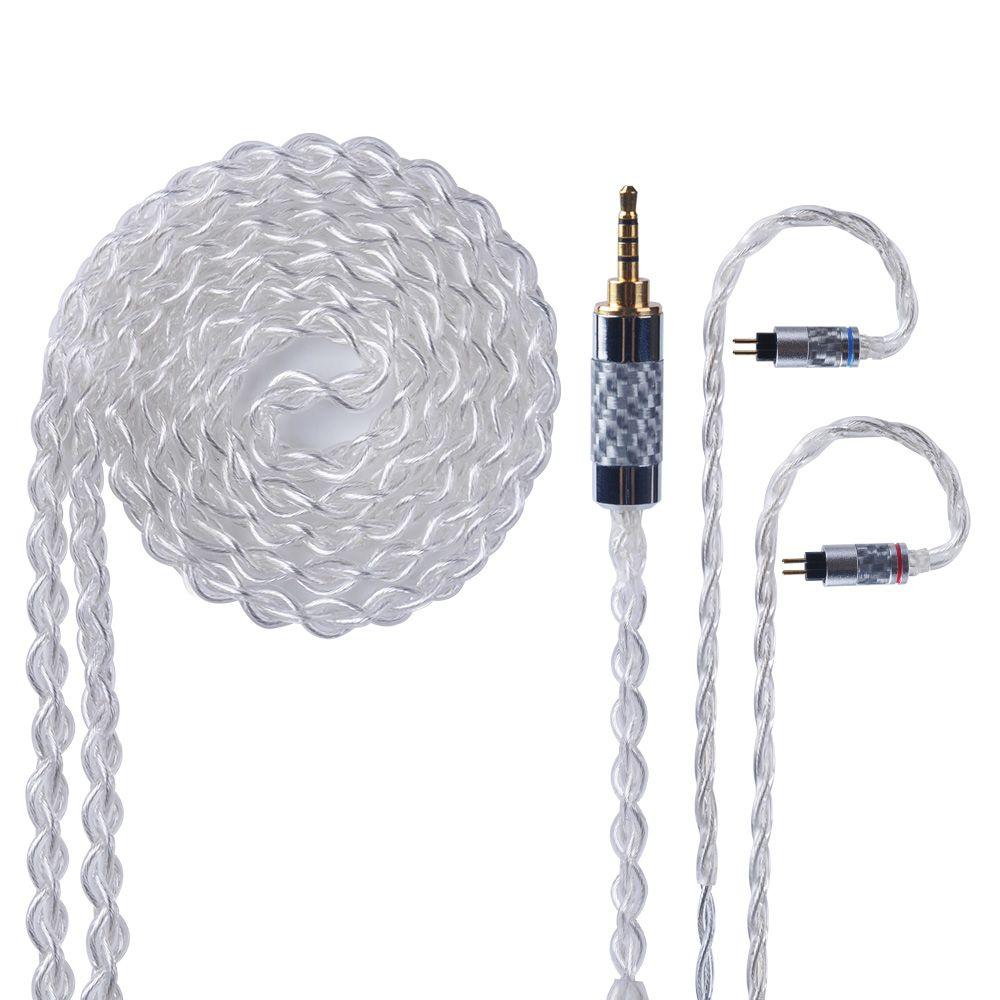 Yinyoo 4 Core Reinem Silber Kabel 2,5/3,5/4,4mm Ausgewogene Kopfhörer Upgrade Kabel Mit MMCX/2Pin für KZ ZS10 PRO AS10 CCA A10 TRN X6