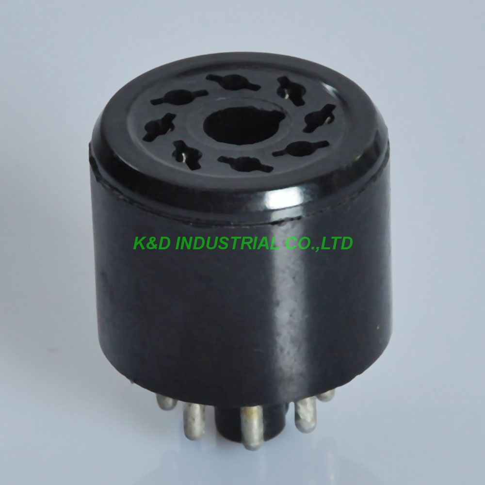 2pcs 8Pin Noval Vacuum Bakelite Tube Saver Socket Testing 6L6 6V6 6SN7 EL34 KT88 6550 Tube Amplifier Parts