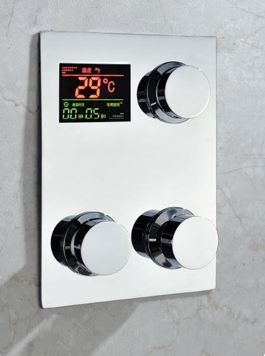 Thermostat-brausearmatur, Temparature Display. Digitale einbau thermostat dusche mischventil wasserhahn mischbatterie mit lcd-bildschirm