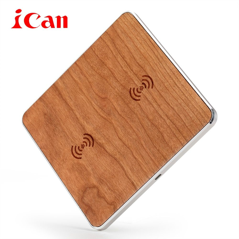 Ican Qi Wireless Charger Desktop Mobile Phone Charger 9V Fast Charging Pad For Samsung S7 S6 Edge Smart Phones Chargers