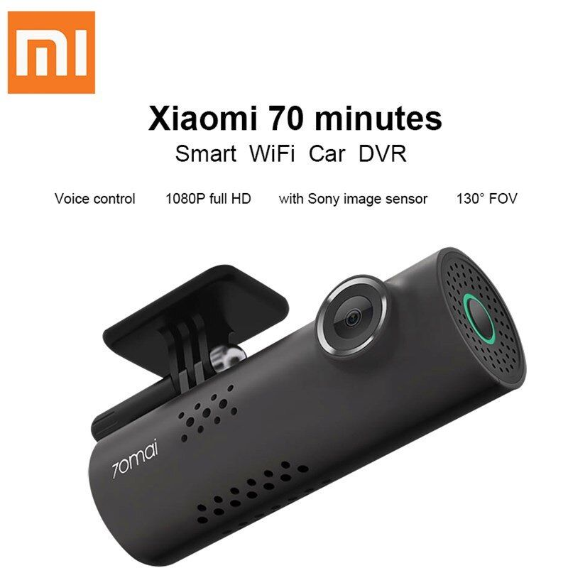 Original Xiaomi Mijia 70mai Dash Cam Smart WiFi Car DVR International Version 1080P 130 Degree Wide Angle