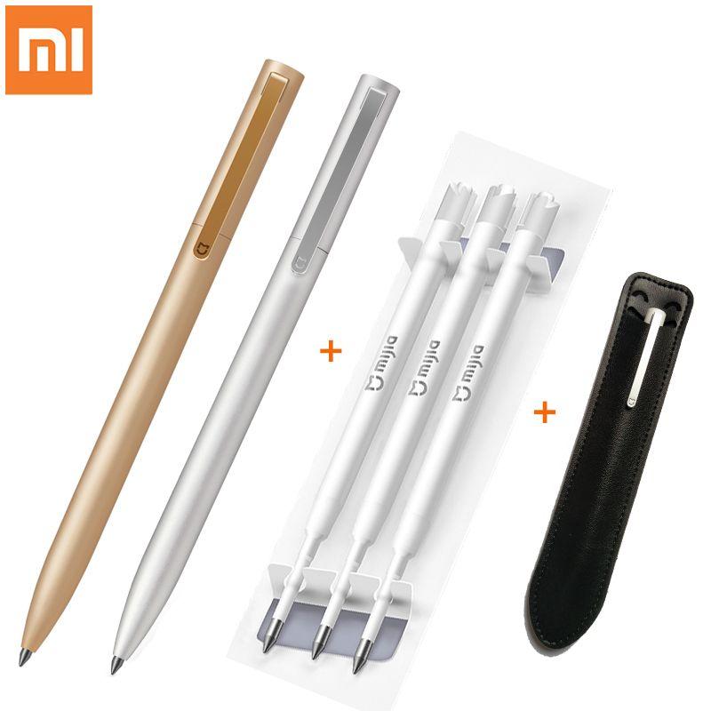 Original Xiaomi Mijia métal signe stylo 0.5mm signature stylo PREMEC lisse suisse recharge MiKuni japon encre