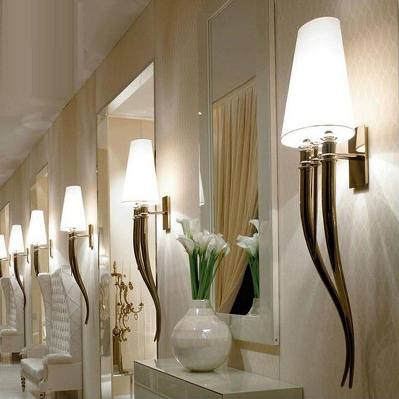 Creative led wall lamp contracted hotels horn wall lamp Dining-room sitting room bedroom the head of a bed
