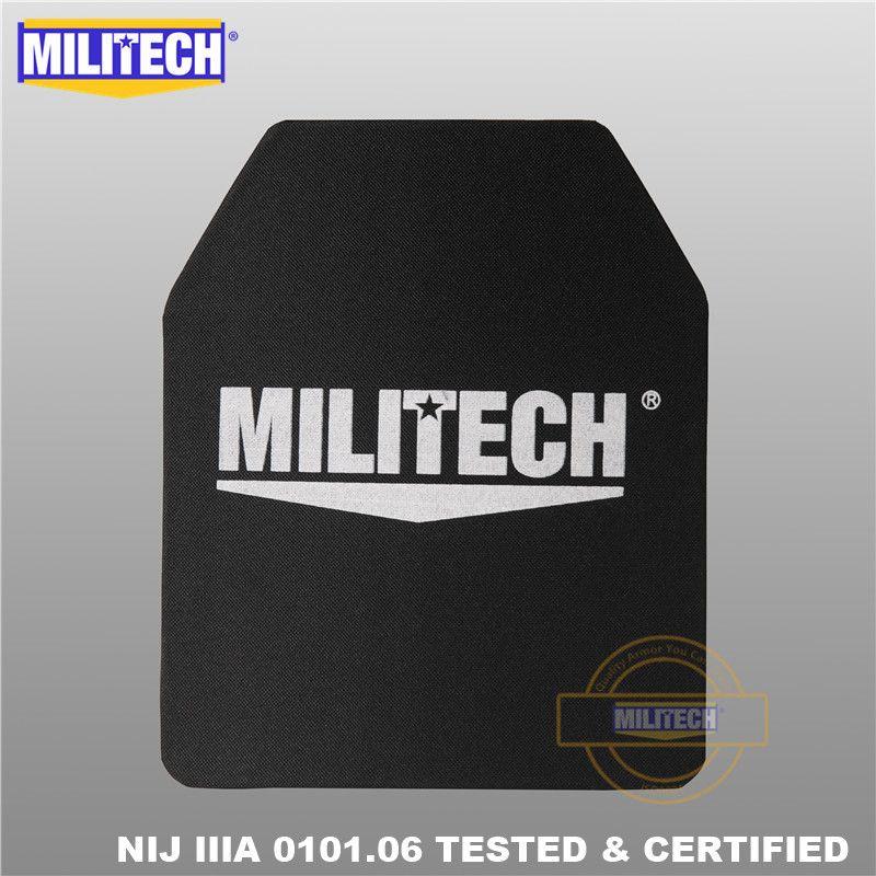 MILITECH 10x12 pouces Ultra léger UHMWPE NIJ IIIA 3A panneau de sac à dos pare-balles à l'épreuve des balles avec vidéo de Test balistique
