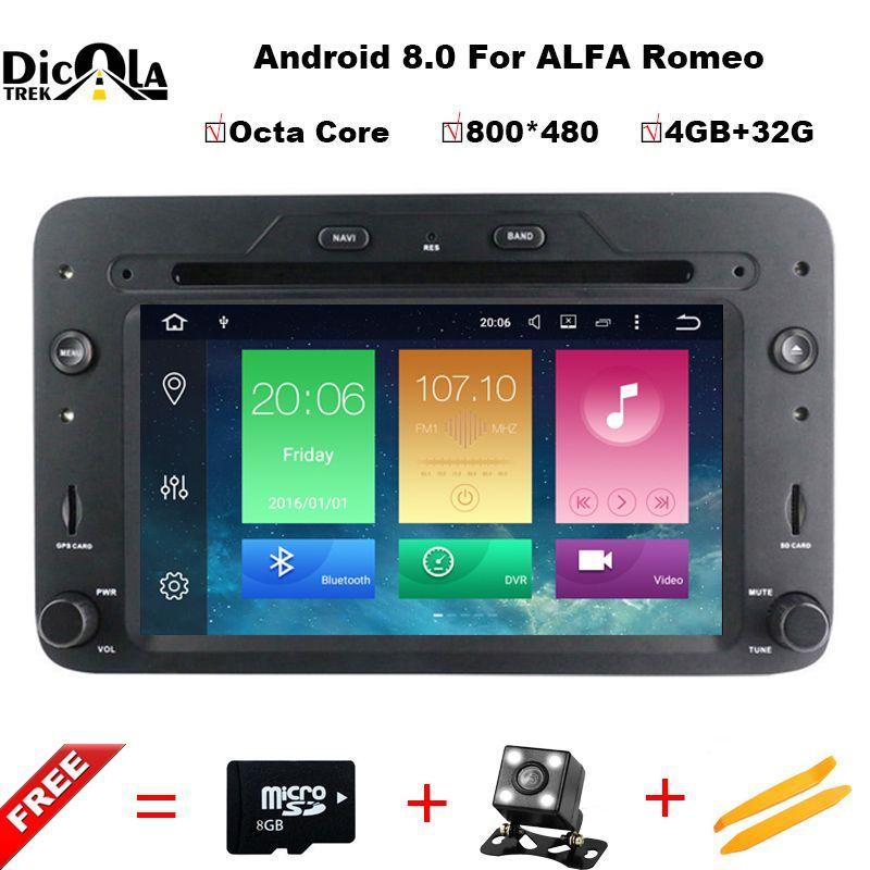 Android 8.0 Octa Core 4 gb RAM Auto DVD GPS Navigation-Player Auto Stereo für Alfa Romeo Spider 2006 Radio steuergerät bluetooth WIFI