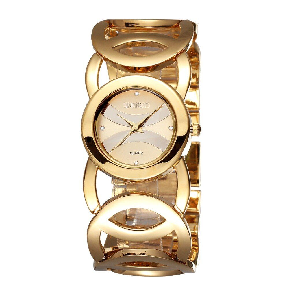 WEIQIN Luxury Hardlex Gold Mirror Strap Women's Bracelet Watches Colorful Shell Square Dial Fashion Watch Lady Relogio Feminino
