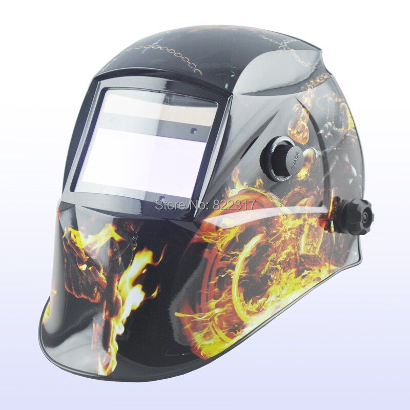 Auto darkening welding helmet/welding mask/MIG MAG TIG(Yoga-718G) War chariot)/4 arc sensor
