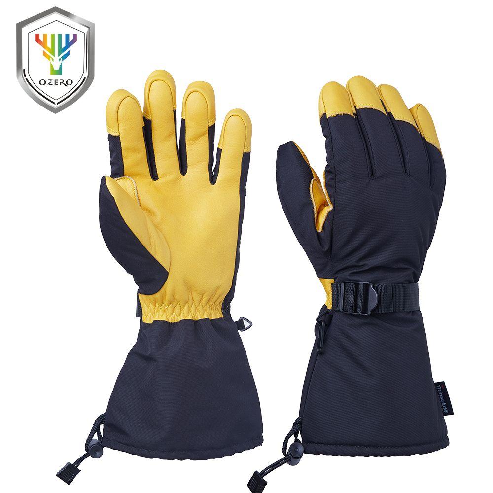 OZERO Ski Handschuhe Winter Snowmobile Sport Motorrad Reiten Winddicht Wasserdicht Warme Ski Snowboard Handschuhe Für Männer Frau 9008