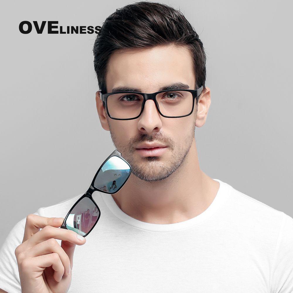 2017 Marque designer Polarisées Aimant Clip lunettes hommes femmes aimant cadre Myopie Lunettes Prescrioption Optique lunettes de soleil 7016