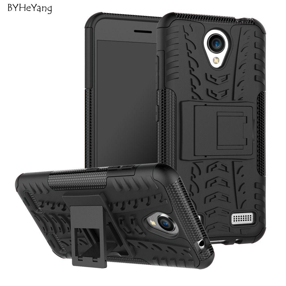 Для zte лезвие A520 случае 5,0 дюймов прочный ТПУ + PC Пластик силиконовый двойной Броня с подставкой Чехол для телефона для zte лезвие A520 520 крышка