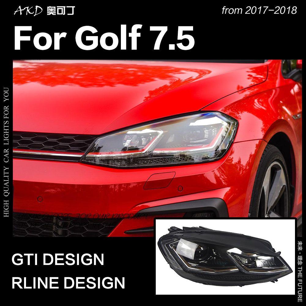 AKD Car Styling for VW Golf 7.5 LED Headlight 2018 New Golf 7 Headlights DRL Hid Head Lamp Dynamic Signal Bi Xenon Accessories