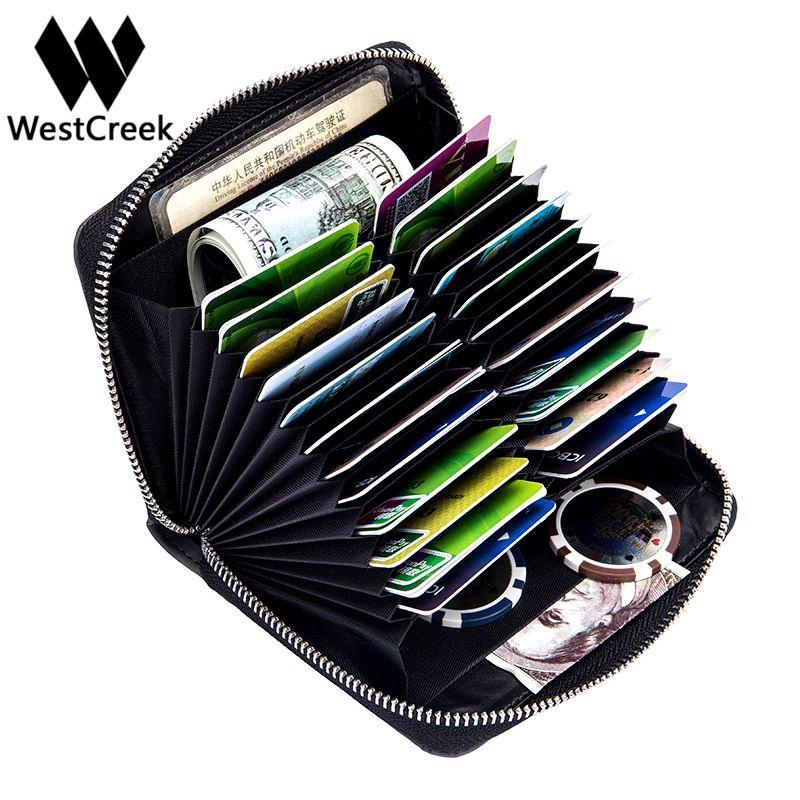 Westcreek бренд Для мужчин Организатор RFID держатель кредитной карты большой Ёмкость Ретро Для женщин паспорт Бизнес визитница путешествия Женс...