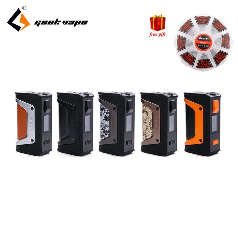 Free gift GeekVape Aegis mod aegis Legend 200W TC Box MOD Powered by Dual 18650 batteries e cigs No Battery for zeus rta blitzen