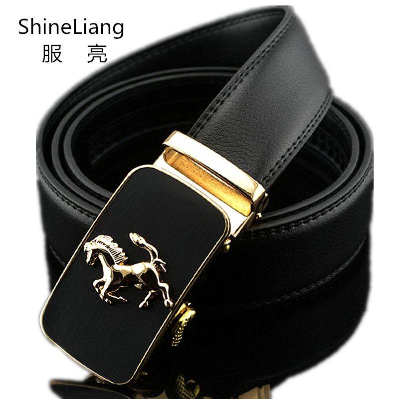 2018 Automatique ceinture pour hommes Or argent boucle en cuir Largeur 3.5 cm Longueur 110/120/130 cm Designer de haute qualité marque de mode mâle