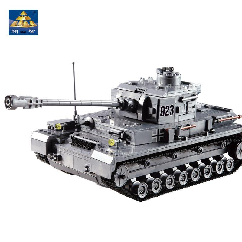 KAZI Large Panzer IV Tank 1193pcs Building Blocks Military Army Constructor set Educational Toys for Children Compatible Legoing
