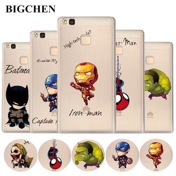For Huawei P8 P9 P10 P20 Mate 10 Lite Y5 Y6 II Case Soft Silicon Cool Marvel Case For Honor 7 8 9 6A 7A P Smart Y3 Y7 2017 Cover