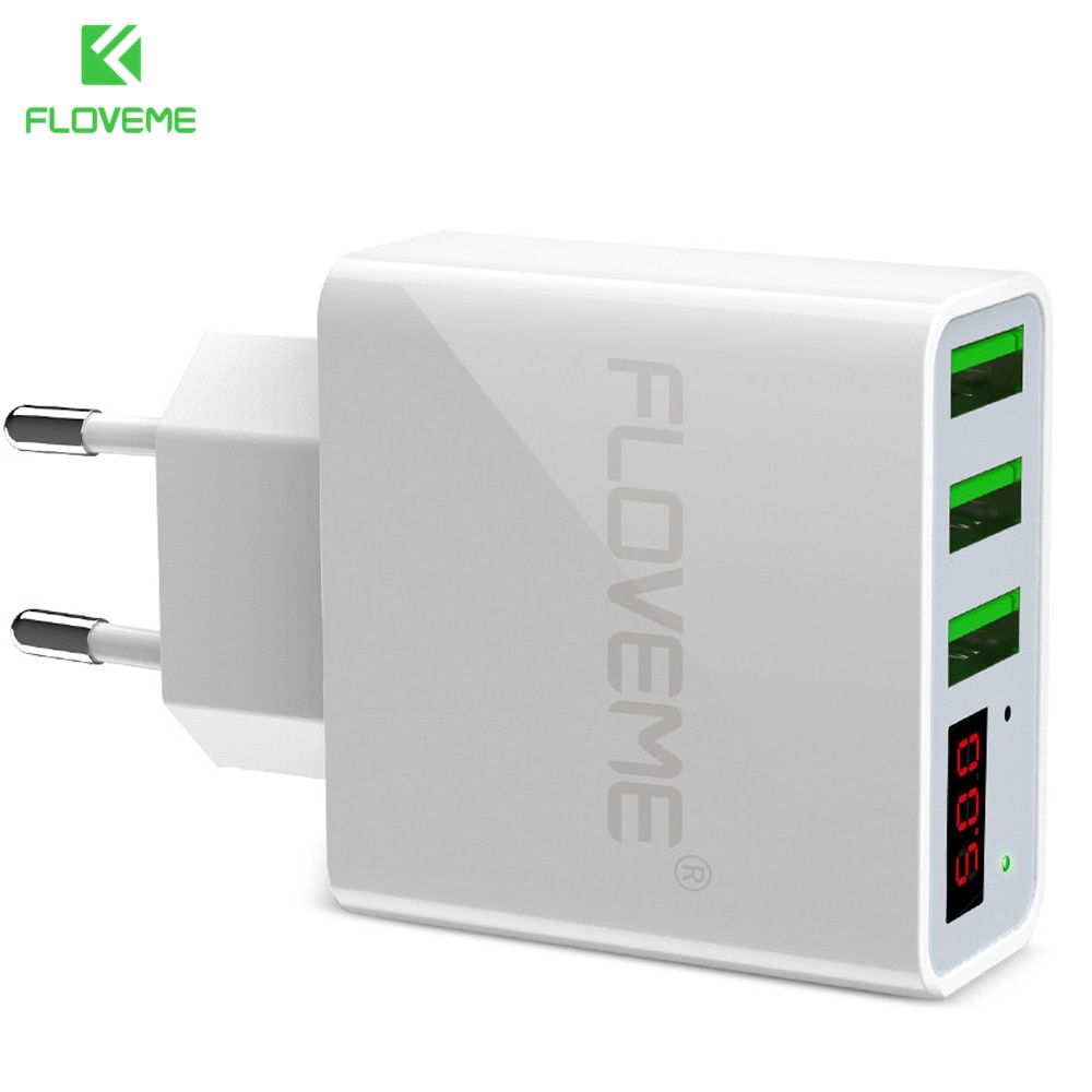 FLOVEME 3 Ports USB Fast Charger Portable Charging Professional Smart Digital Travel Adapter For iPhone Samsung Xiaomi OnePlus 5