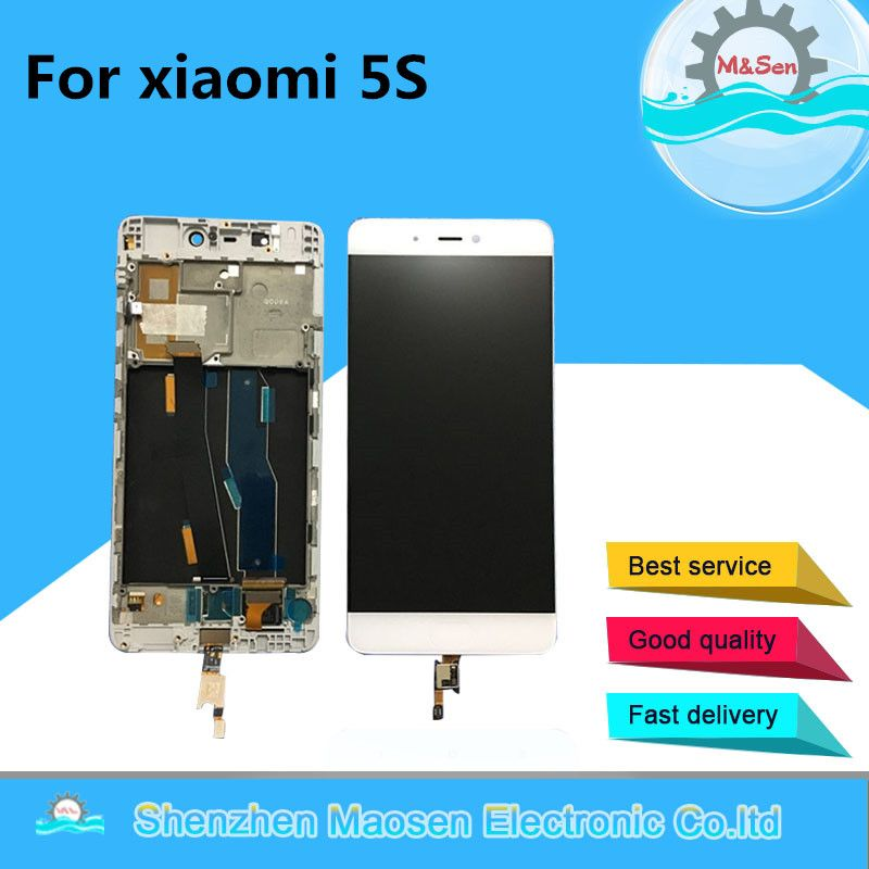 M&Sen For Xiaomi 5s Mi5s M5s LCD screen display + Touch digitizer with frame white/Black free shipping