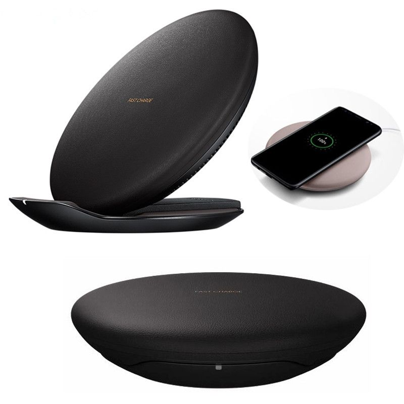 Brucebing Universal Qi Fast Wireless Charger for SAMSUNG GALAXY S8 SM-G950U SM-G9508 S8+ G955 Note 8 for iPhone X 8/8 plus