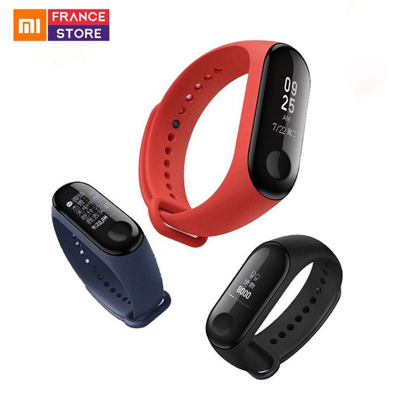 Version mondiale bracelet intelligent Xiaomi Mi Band 3 mise à jour pour bracelet Mi Badn 2 traqueur de sport Band 3 à écran étanche