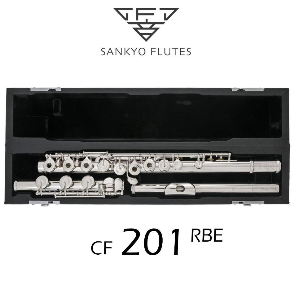 Professinal Sankyo CF201 FLUTE ETUDE E Key Split Silver Plated C Tune 17 Holes Open France Buttons Fluete for Beignner