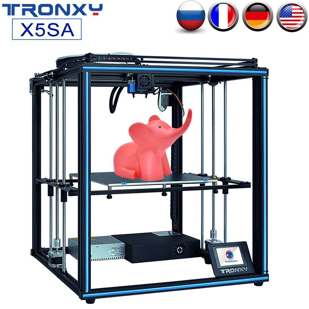 TRONXY Upgrade 24V X5SA X5SA-400 3D Drucker Schnelle Montage DIY Kit Auto Nivellierung Filament Sensor Lebenslauf Druck Größere Druck größe