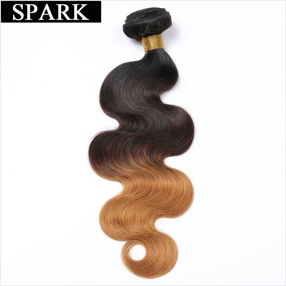 Spark Brésilienne Corps Vague 1/3/4 pièces 100% cheveux humains Bundles 10-26 pouces Ombre Couleur 1B /4/27 & 1B/4/30 cheveux remy Armure Extensions