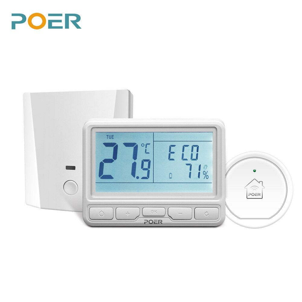 Wireless room remote Controller wifi digital Thermostat home electric Floor Heating controller 16A current with gateway