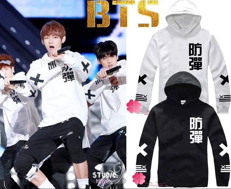 Kpop BTS BTS bulletproof youth club relieving wool wool crew neck sweatshirt hooded sweatshirts coat jacket BTS BTS children