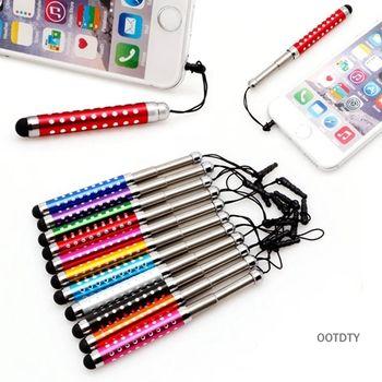 OOTDTY Trois Liens Rétractable Capacitif Stylet Tactile Écran Teblet Stylo Diamant Pour iPhone iPad Tablet PC téléphone Mobile