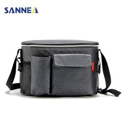 SANNE 8L Oxford Thermal Lunch Bags for Women Adults Men Food Lunch Picnic Cooler Bag Insulated Storage Container W/ Bottle Bag