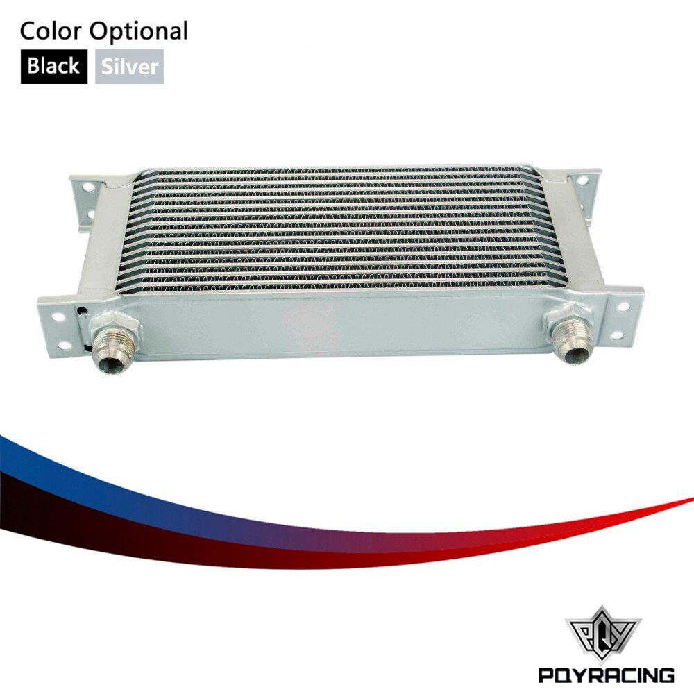 PQY RACING- 16 ROW AN-10AN UNIVERSAL ENGINE TRANSMISSION OIL COOLER PQY7016
