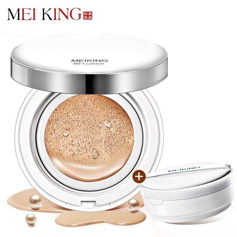 MEIKING Pearl Air Cushion BB Cream Isolation Whitening Concealer Moisturizer Oil-control Base Foundation Brighten makeup 30g