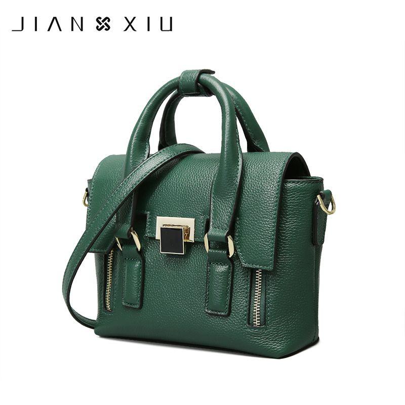JIANXIU Brand Fashion Genuine Leather Bags Sac a Main Handbags Bolsos Mujer Bolsas Feminina Solid Color Shoulder Crossbody Bag