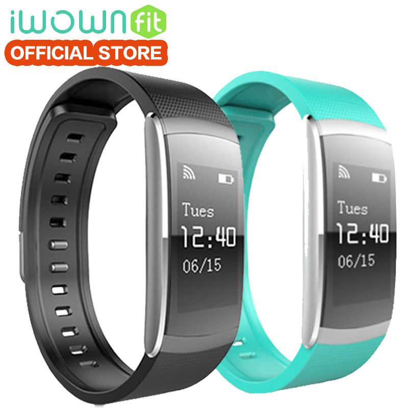 IWOWNfit I6 PRO Fitness Bracelet Heart Rate Monitor Wristband IP67 Waterproof Smart Bracelet Fitness Tracker Support Andriod IOS