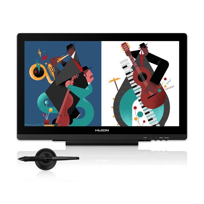 HUION Kamvas GT-191 V2 19,53 Display Stift Tablet Monitor Batterie-freies Digitale Grafiken Zeichnung Monitor 8192 Ebenen mit geschenke
