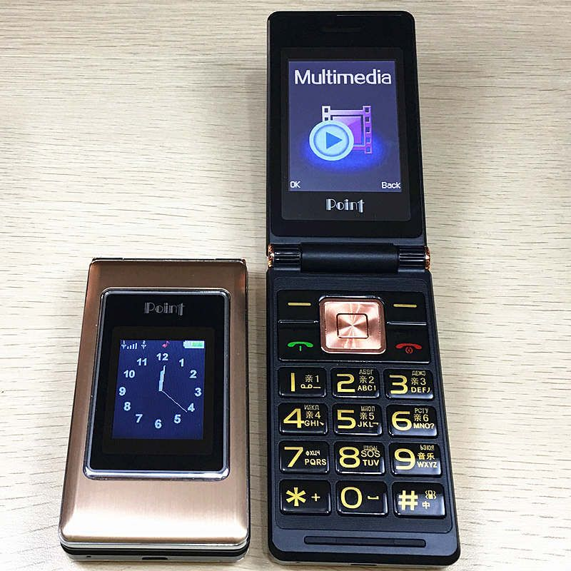 2.6flip russian keyboard dual sim cheap senior mobile phone gsm <font><b>china</b></font> Phone Elder clamshell Cell phones H-mobile MK008