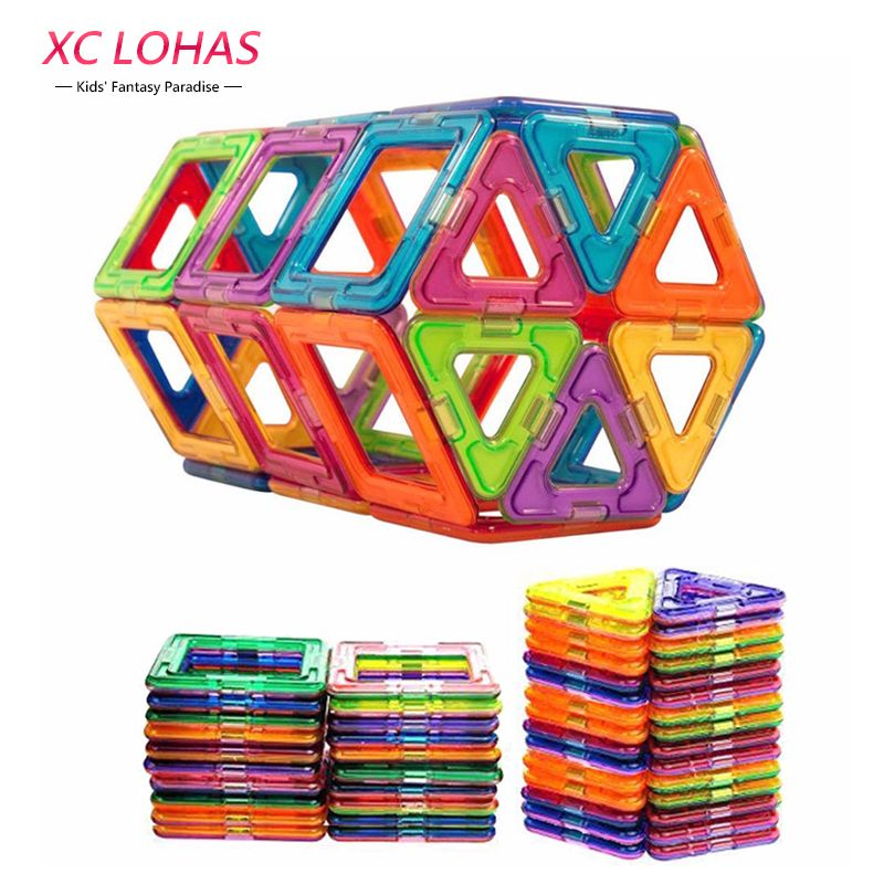 50 pcs Small Size Magnetic Blocks Construction Model Magnetic Building Blocks Children DIY Educational Toys Kids <font><b>Birthday</b></font> Gift